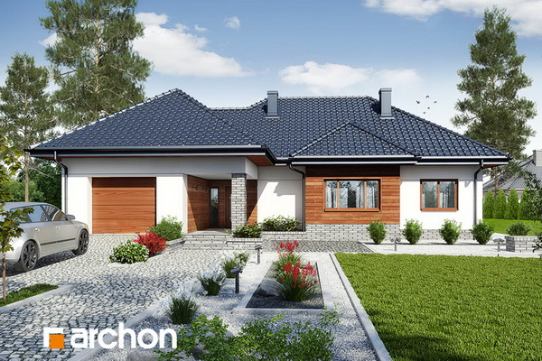 1 storey hip roof comfortable contemporary house (2)