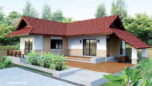 2 bedroom resort house with plan (1)