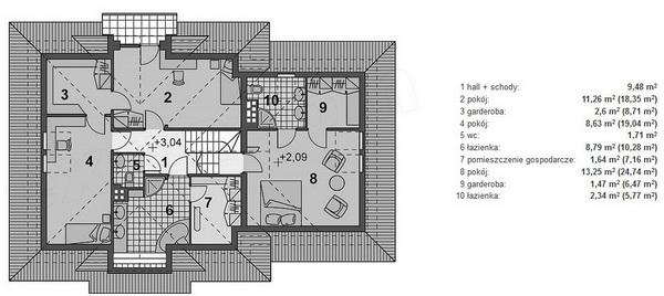 2 storey hip roof modern house (5)