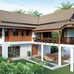 แบบบ้านไทยประยุกต์ทรงใต้ถุน ออกแบบโปร่งโล่ง เหมาะสำหรับสร้างในพื้นที่ชนบท