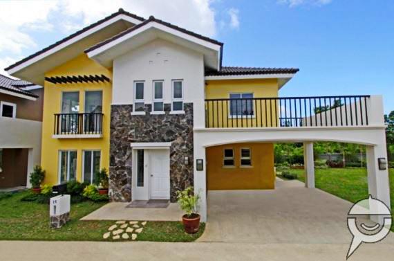 2 storey yellow white single house (1)