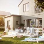 บ้านทาวน์โฮมสองชั้น สไตล์โมเดิร์นหลังคาทรงจั่ว ภายในมินิมอลสวยงาม