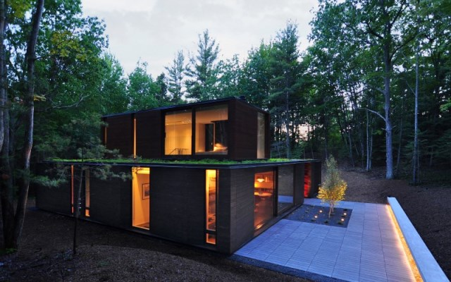 Pleated-house-textured-wood-structure-with-a-green-roof-13