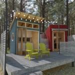 บ้านตากอากาศขนาดเล็ก ตกแต่งด้วยไม้สไตล์เคบิน เหมาะกับการประยุกต์ให้เป็นรีสอร์ท รวมทั้งร้านกาแฟ