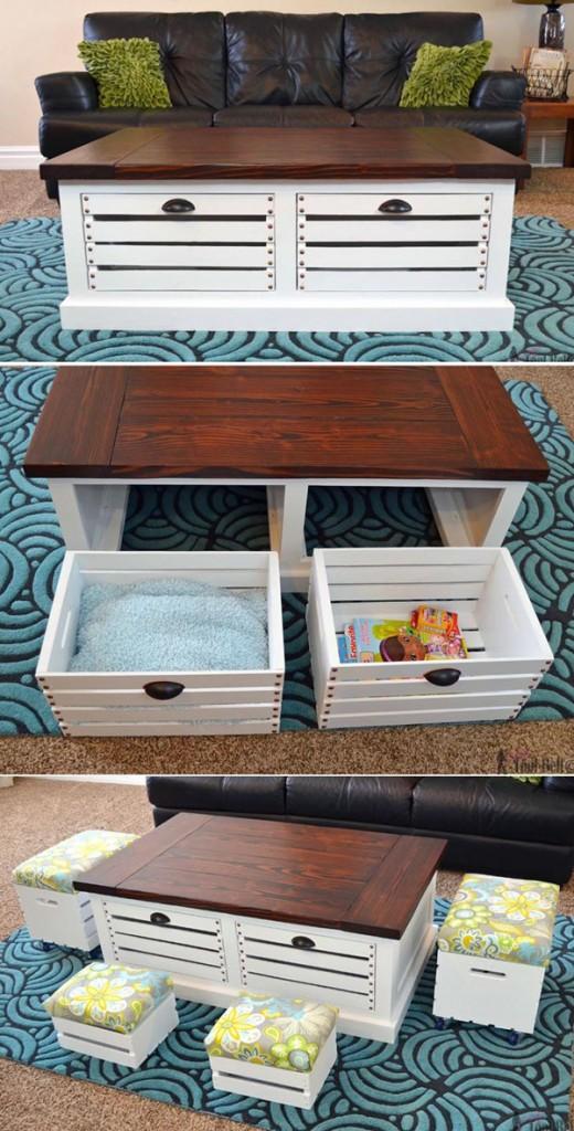 diy-wood-storage-coffee-table-and-stools