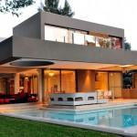 แบบบ้านโมเดิร์นพร้อมสระว่ายน้ำ โทนสีขาวดำ ดีไซน์หรูหรามีระดับ