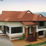 แบบบ้านทรงมนิลาหลังคาสีส้ม ดีไซน์แบบร่วมสมัยพิมพ์นิยม โดดเด่นสะดุดตา