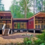 บ้านตากอากาศ สไตล์โมเดิร์น มาพร้อมโครงสร้างและการตกแต่งจากไม้