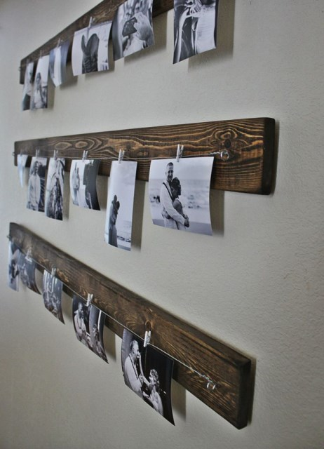 rustic-diy-family-photo-wall-ideas