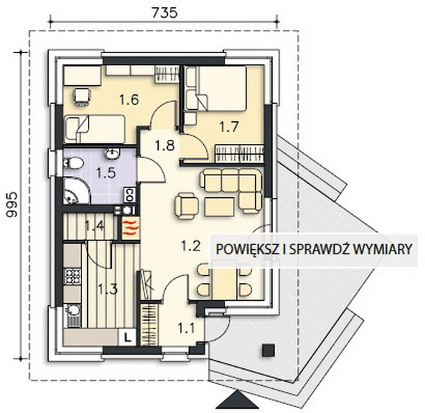 small 2 bedroom rental house plan (5)