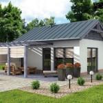 แบบบ้านปูนหลังเล็กดีไซน์แบบสตูดิโอ ออกแบบกะทัดรัด ในงบประมาณเพียง 3 แสนบาท