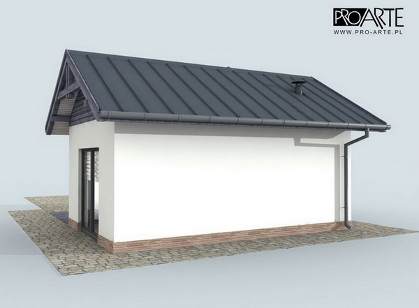 small blue concrete house (2)