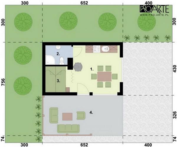 small blue concrete house (4)