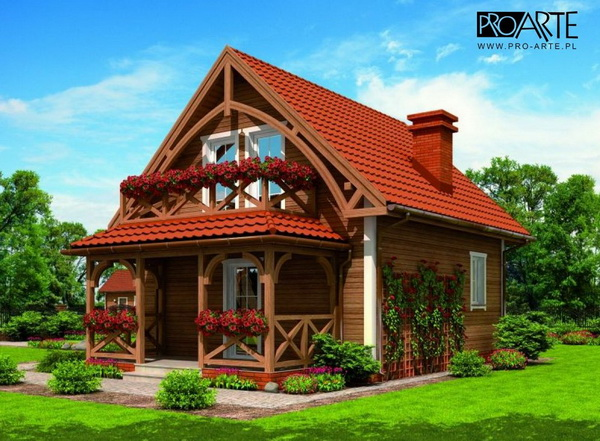 traditional 2 storey log cabin (2)