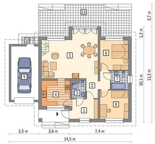 white romantic family house (3)