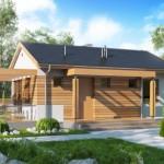 บ้านร่วมสมัยหลังคาจั่ว 2 ห้องนอน 1 ห้องน้ำตกแต่งจากไม้สวยงาม