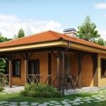บ้านหลังคาปั้นหยา ขนาดเล็กกะทัดรัด ตกแต่งเรียง่ายจากไม้