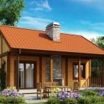 บ้านเดี่ยวร่วมสมัย ขนาดเล็กกะทัดรัด ตกแต่งน่ารักและสวยงาม ด้วยไม้และหิน