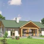 บ้านร่วมสมัยหลังคาจั่ว ขนาดกะทัดรัด ตกแต่งด้วยไม้ แบบเรียบง่าย