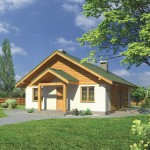 บ้านร่วมสมัย ตกแต่งด้วยไม้แบบเรียบง่าย 3 ห้องนอน 1 ห้องน้ำ
