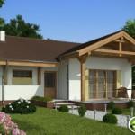 บ้านเดี่ยวขนาดเล็ก 2 ห้องนอน 2 ห้องน้ำ ดีไซน์เรียบง่าย ตกแต่งด้วยไม้ดูอบอุ่น