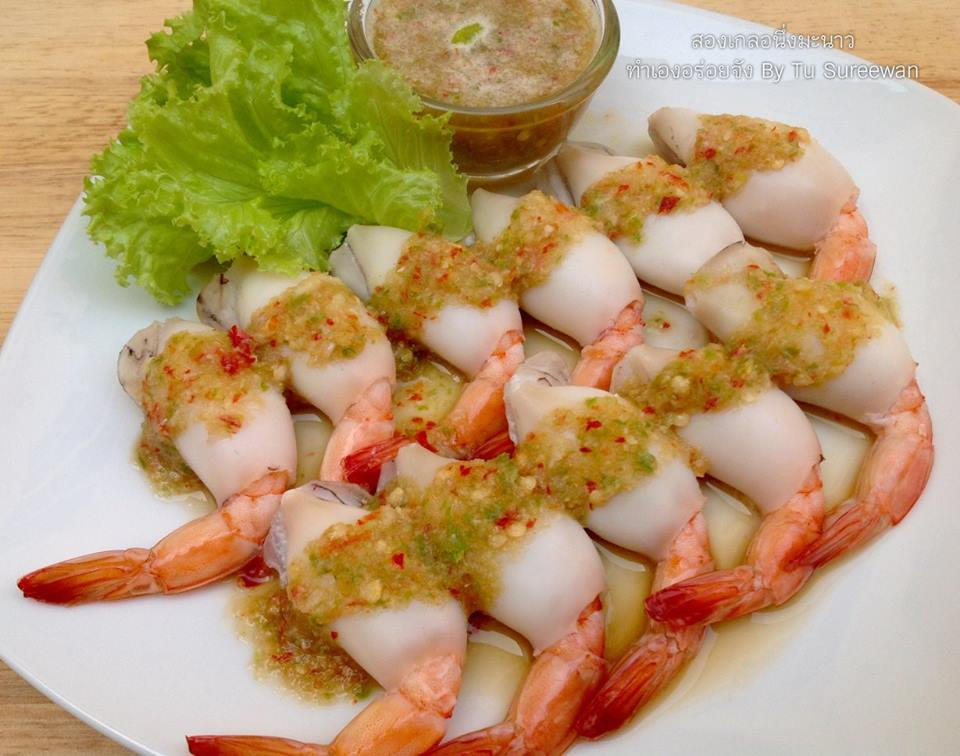wrapped shrimp with seafood dipping recipe (1)