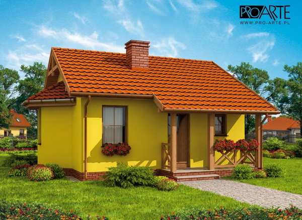 yellow small house plan (1)