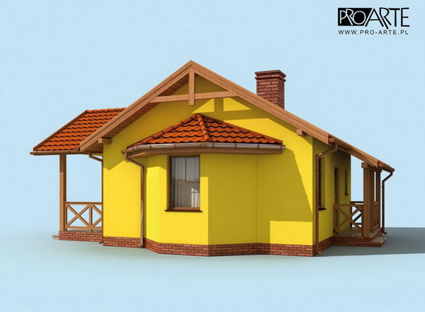 yellow small house plan (3)