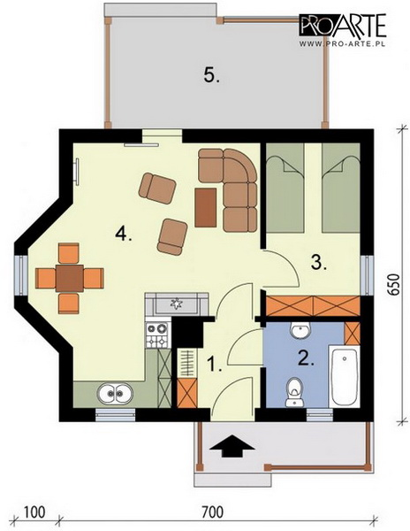 yellow small house plan (5)