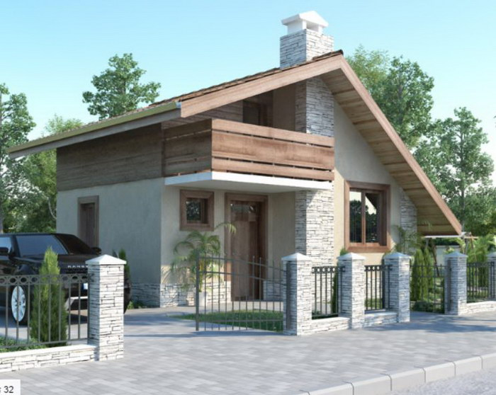 1 floor small concreted wooden house  (2)