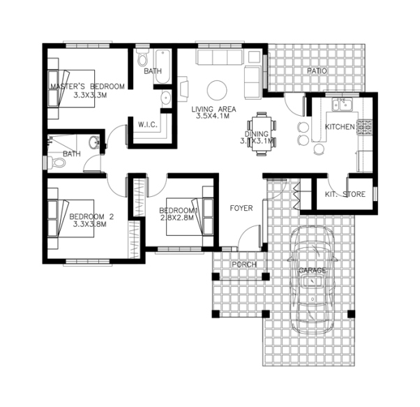 1 floor small contemporary house (4)