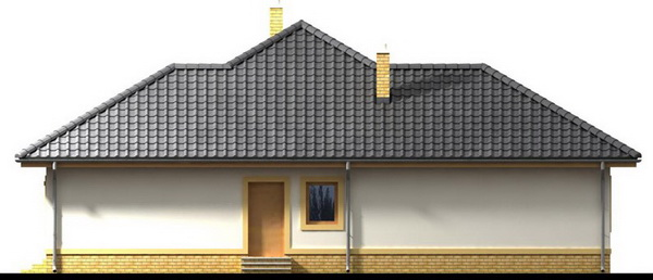 1 storey white hip roof house (1)