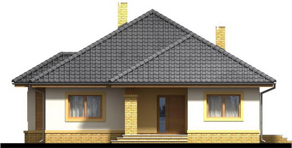 1 storey white hip roof house (3)