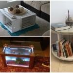 """10 ไอเดีย """"โต๊ะกลาง โต๊ะกาแฟ"""" จากไม้ ในรูปแบบ DIY"""