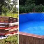 สุดยอดการรีไซเคิล!! ชายหนุ่มเปลี่ยนไม้พาเลท 10 ชิ้น ให้กลายเป็นสระว่ายน้ำส่วนตัวในสวนหลังบ้าน