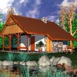 บ้านสวนขนาดเล็กกะทัดรัด ตกแต่งสไตล์ร่วมสมัยด้วยไม้ เหมาะกับการใช้งานของคนไทย