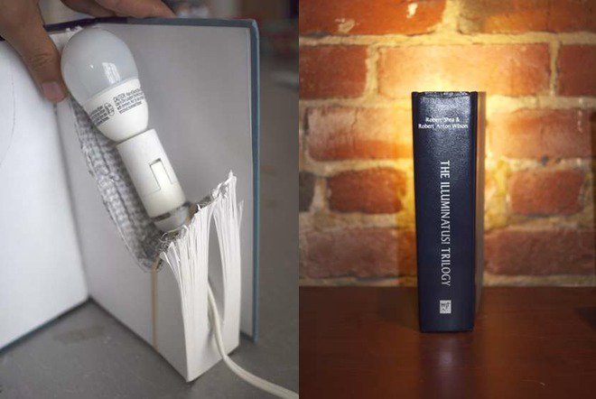 13 ideas to reuse old books for house decoration (9)