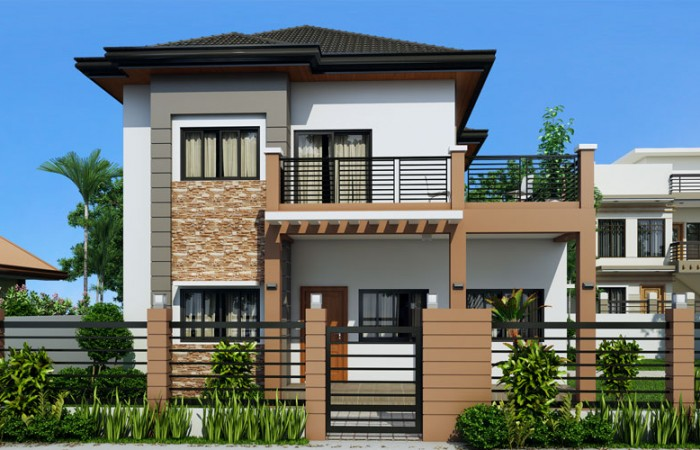 2 storey contemporary sandstone house (1)