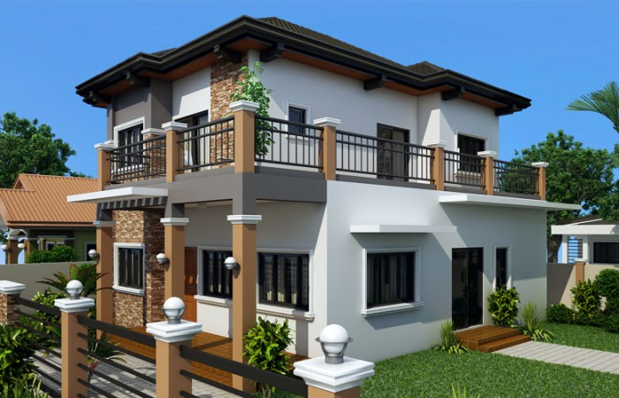 2 storey contemporary sandstone house (2)