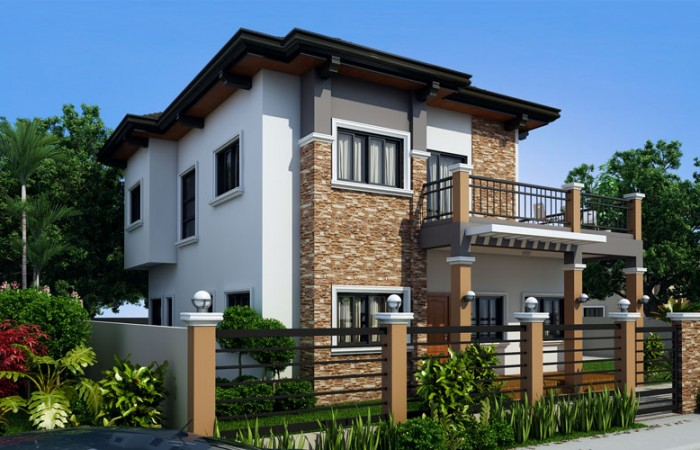2 storey contemporary sandstone house (3)