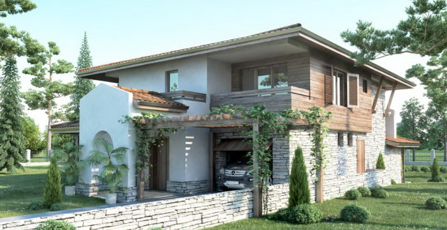 2-storey-forest-wooden-stoned-house (3)
