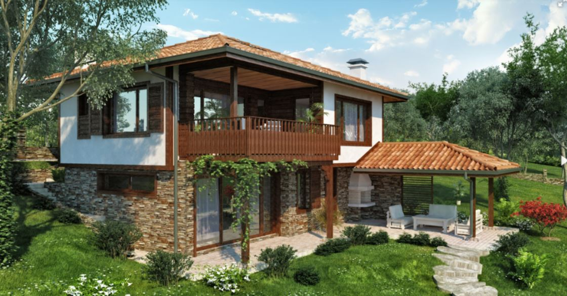 2 storey natural country house (2)