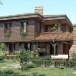 แบบบ้านสองชั้นสไตล์ธรรมชาติ แต่งหินสวยผสานกับไม้ได้อย่างลงตัว มาพร้อมพื้นที่พักผ่อนแสนสบาย