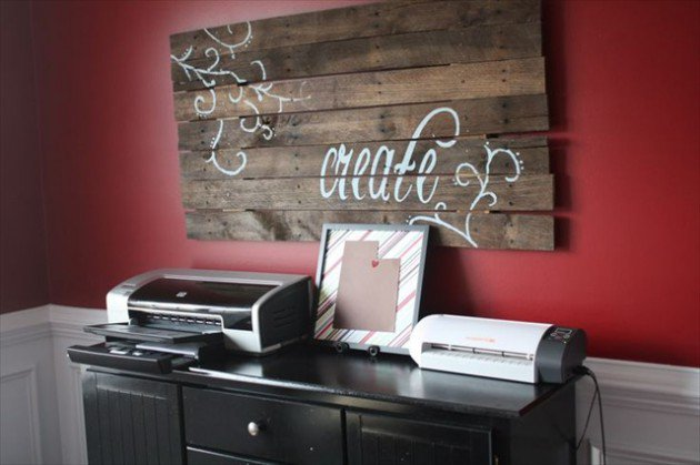 20 Ideas decorate walls with art on pallets (15)