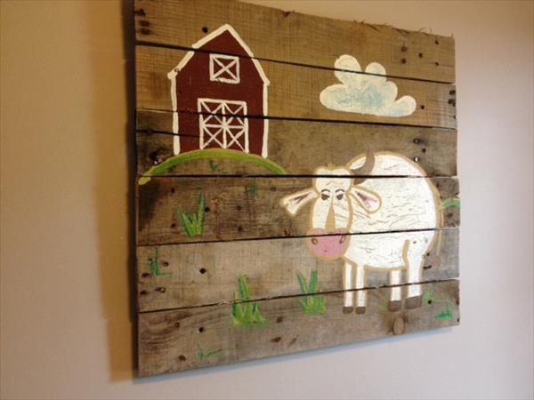 20 Ideas decorate walls with art on pallets (19)