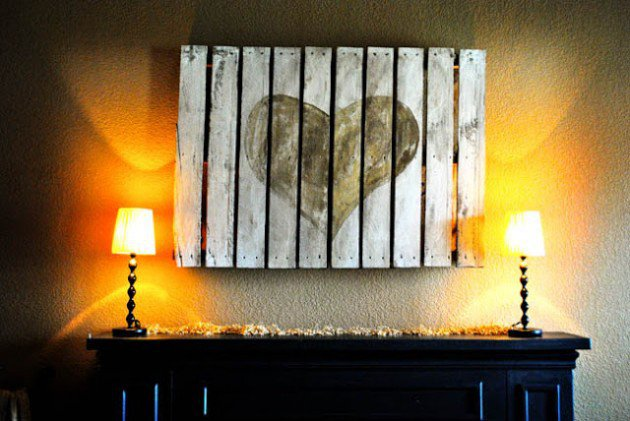20 Ideas decorate walls with art on pallets (3)