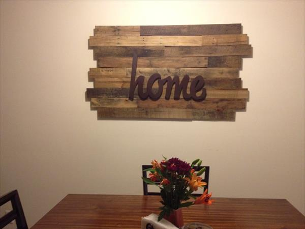 20 Ideas decorate walls with art on pallets (4)