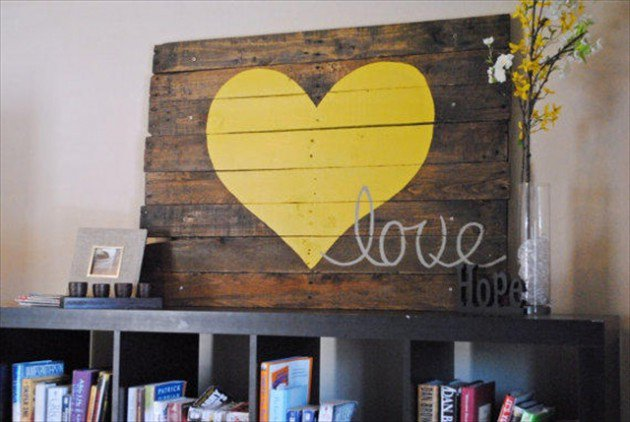 20 Ideas decorate walls with art on pallets (5)