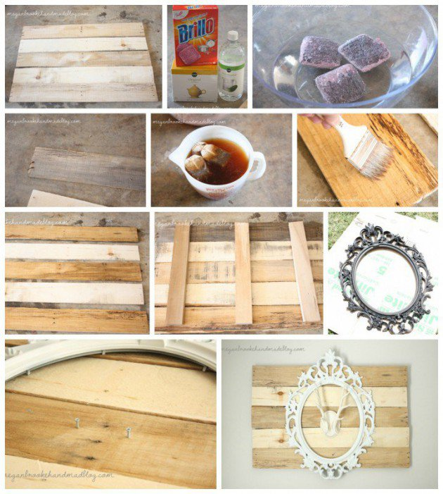 20 Ideas decorate walls with art on pallets (8)