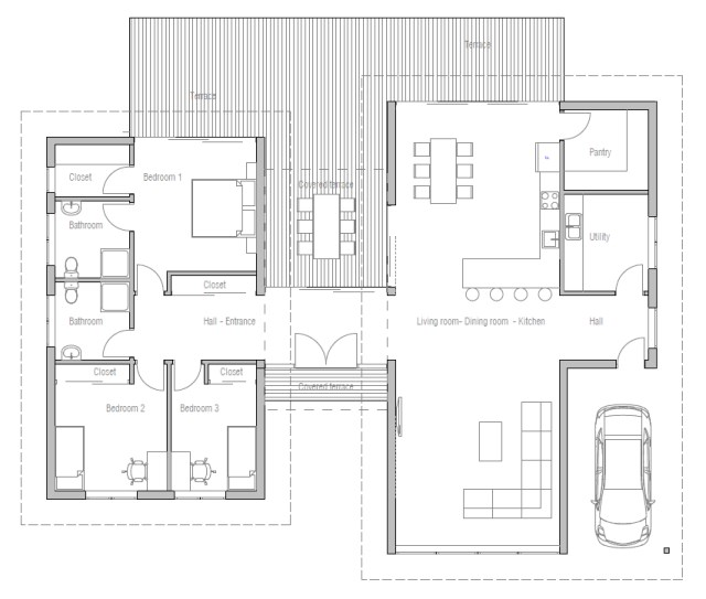 3-bedroom-2-bathroom-modern-cabin house (1)